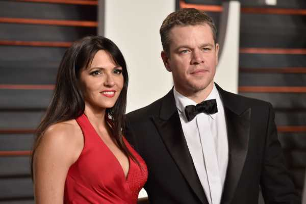 Matt Damon and Luciana Barroso celebrities who married their fans-min