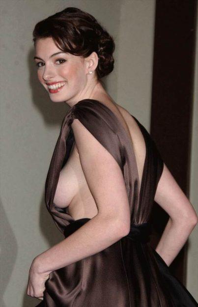 Anne Hathaway Celebrities who don't wear underwear