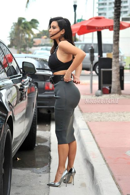 Kim Kardashian Celebrities who don't wear underwear