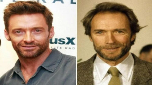 Hugh Jackman and Clint Eastwood celebrities who are incredibly similar