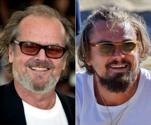 Leonardo Dicaprio and Jack Nicholson celebrities who are incredibly similar