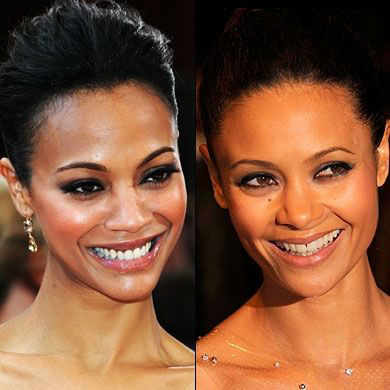 Zoe Saldana and Jada Pinkett Smith celebrities who are incredibly similar