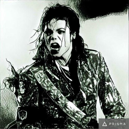 Prisma filters on Michael Jackson Heisenberg