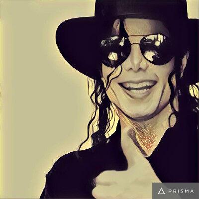 Prisma filters on Michael Jackson Mononoke 2