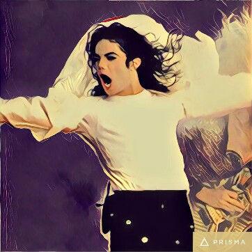 Prisma filters on Michael Jackson Mononoke