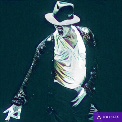 Prisma filters on Michael Jackson Speed