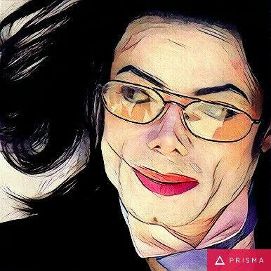 Prisma filters on Michael Jackson Tears
