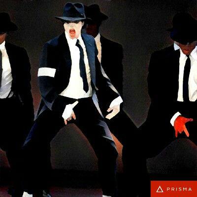 Prisma filters on Michael Jackson Udnie 2