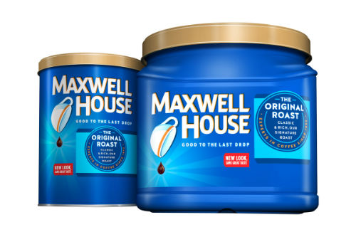 Maxwell House best selling coffee brands