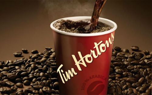 Tim Hortons best selling coffee brands