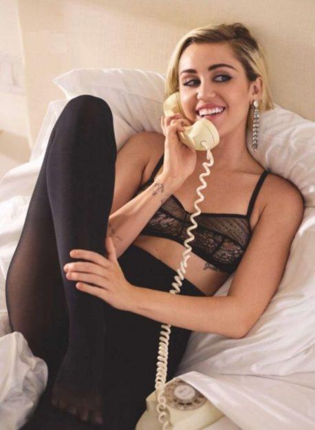 Half Naked Miley Cyrus Photos