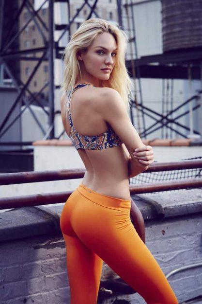 Candice Swanepoel Hot Celebrity pics in Yoga Pants