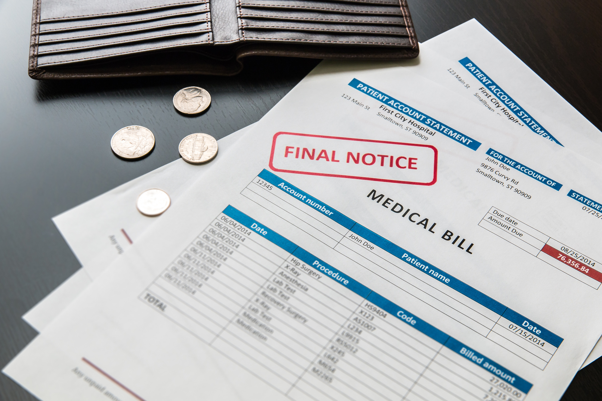 unpaid medical bills