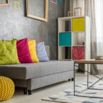 bright colored couch