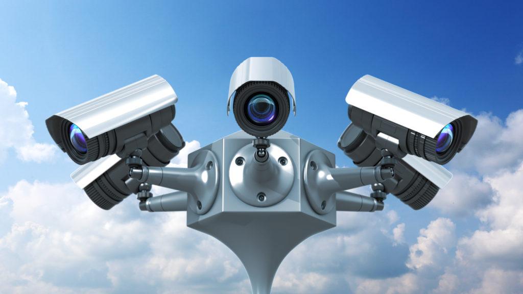 surveillance cameras in public places