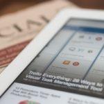 financial management app on tablet