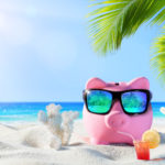piggy bank on vacation