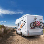 off grid camper on the beach