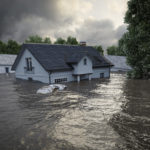flooded homes after hurricane