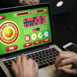 online gambling site on laptop
