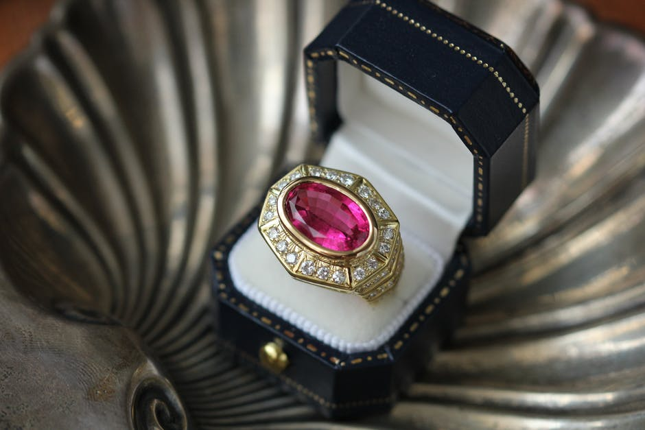 ring with valuable gemstone