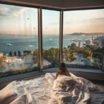 woman in bed at luxury hotel