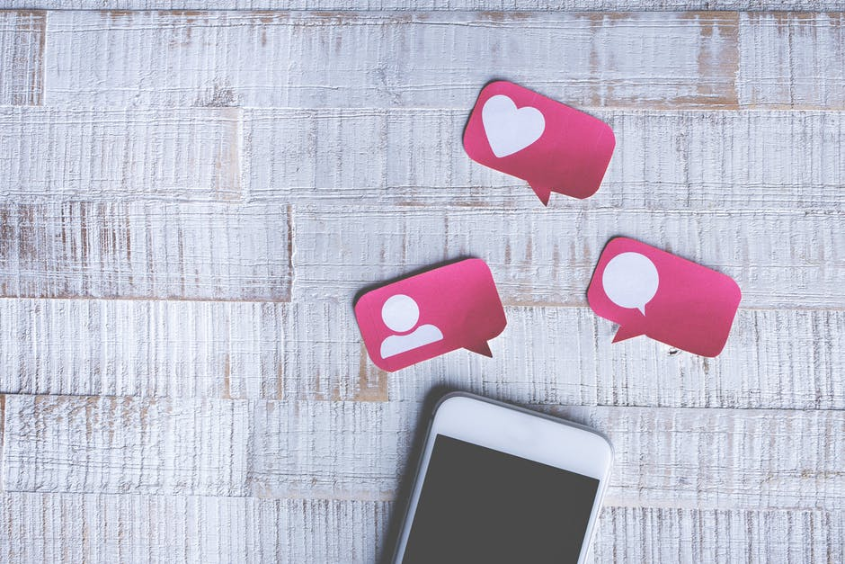 social media icons and phone