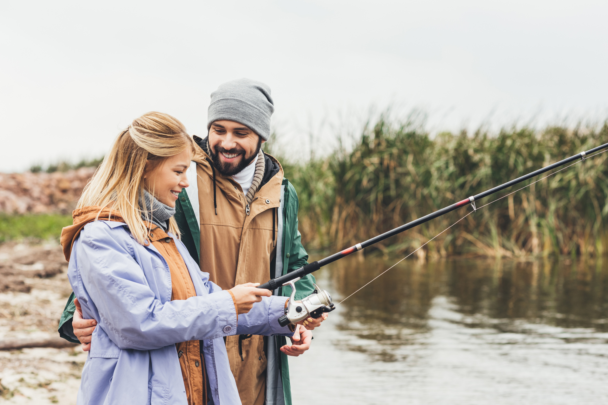 Couple Fishing Together