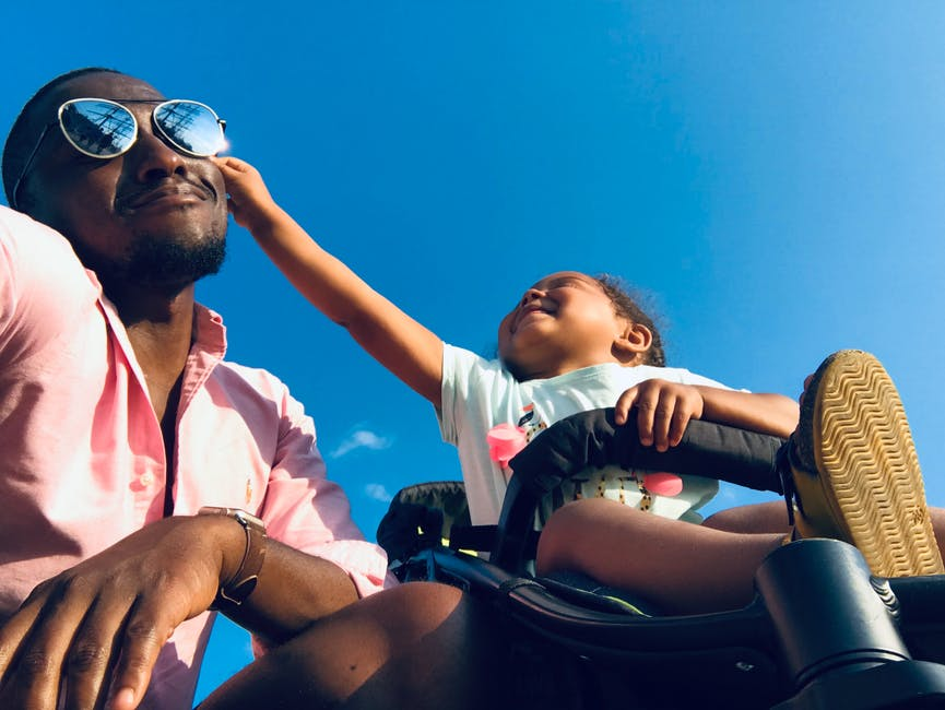Father and Baby Daughter on vacation