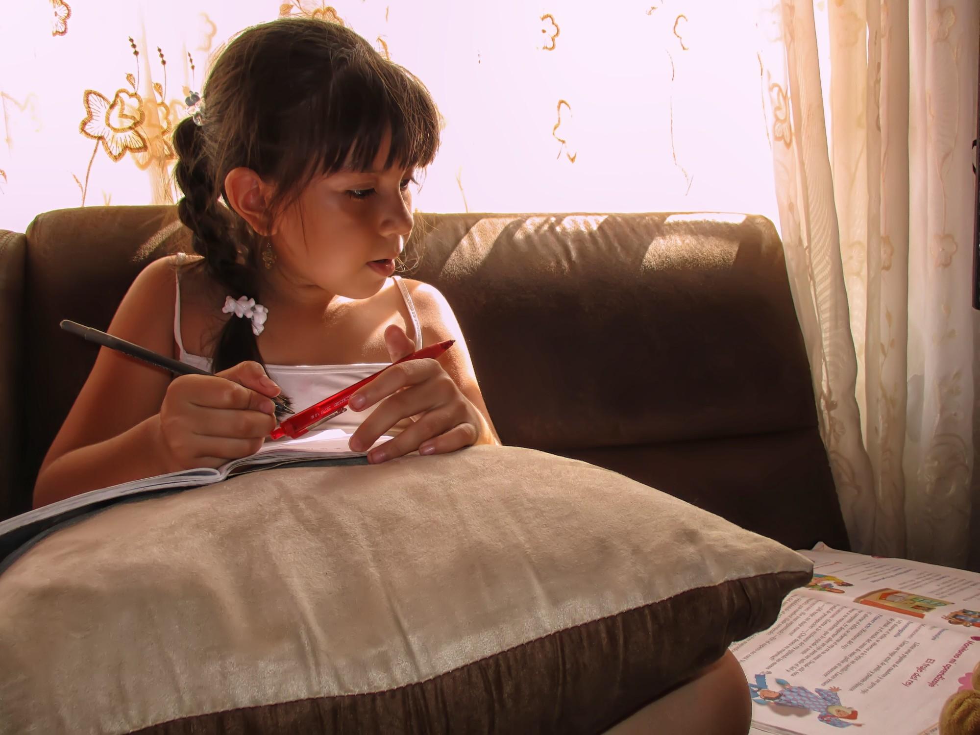 Child Studying Math